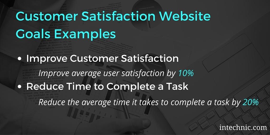 Customer Satisfaction Goals Examples