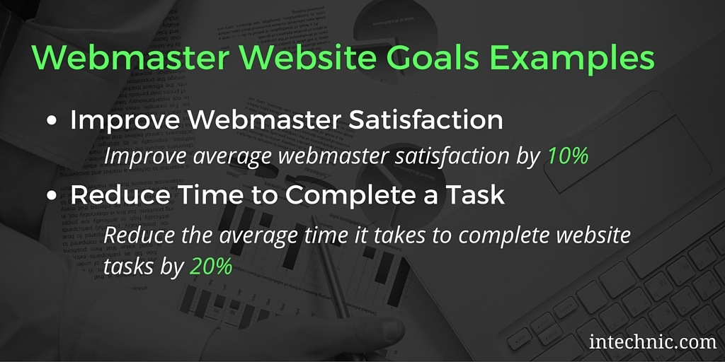 Webmaster Goals Examples