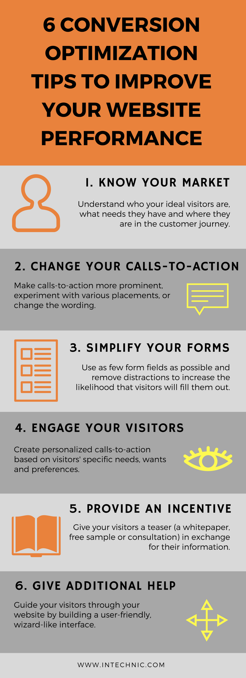 6 Conversion Optimization Tips - Infographic