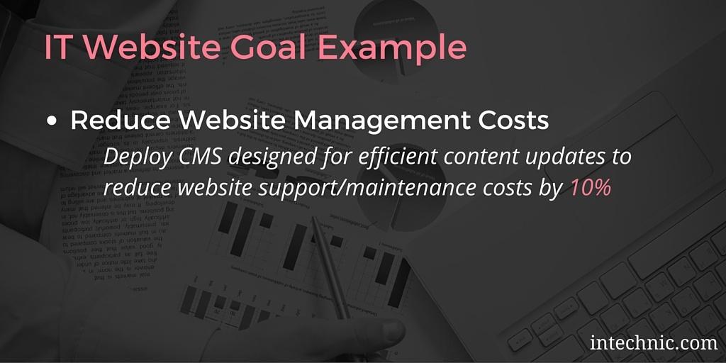 IT Website Goal Example