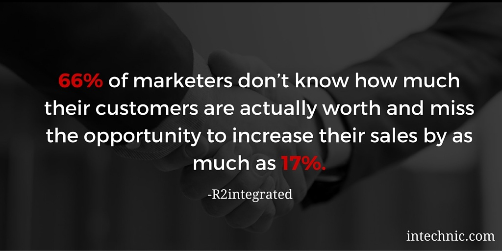 66 of marketers don't know how much their customers are actually worth