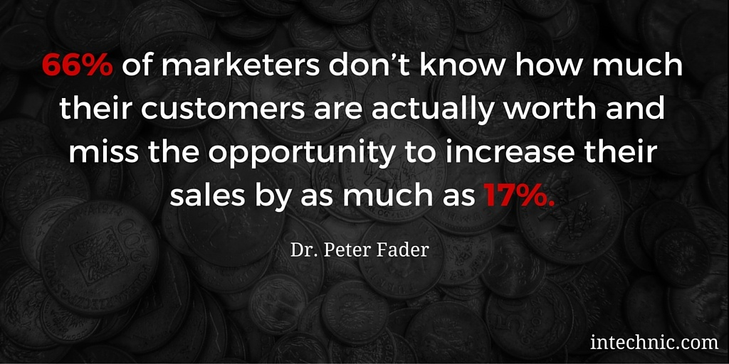 66 percent of marketers don't know how much their customers are actually worth