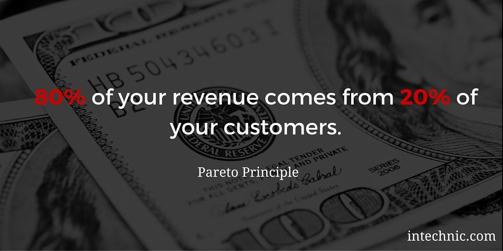 80 of your revenue comes from 20 of your customers