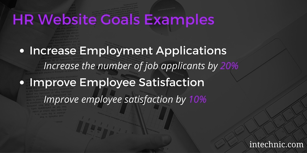 HR Website Objectives Examples