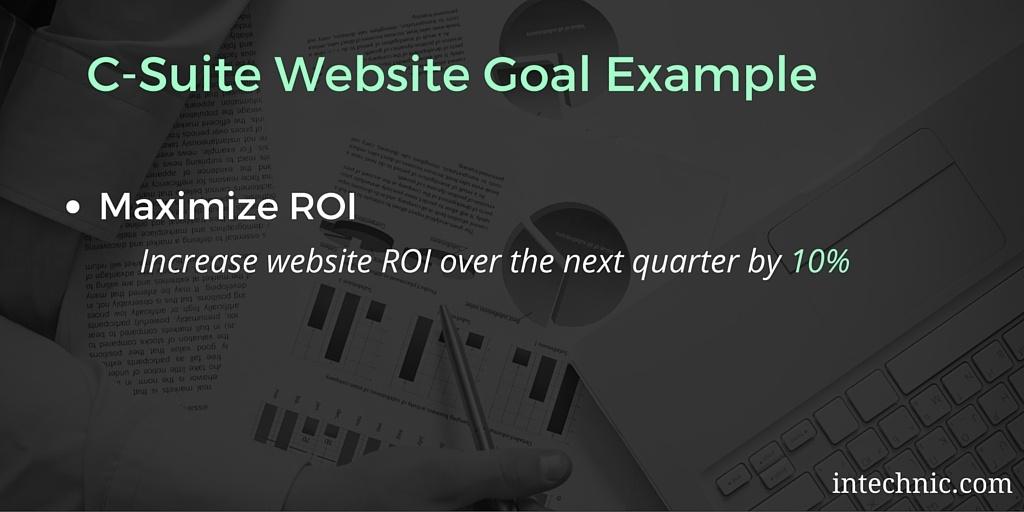 C-Suite Website Objective Example