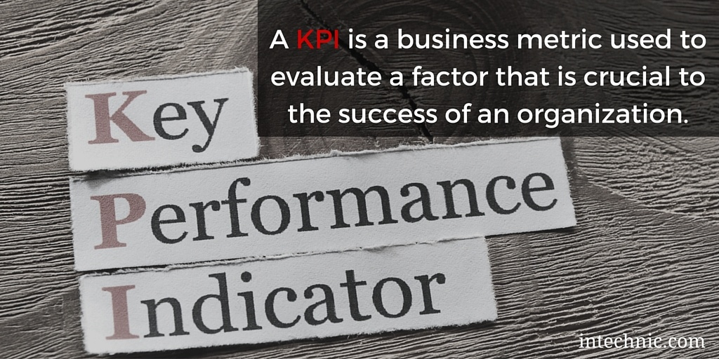 A KPI is a business metric used to evaluate a factor that is crucial to the success of an organization