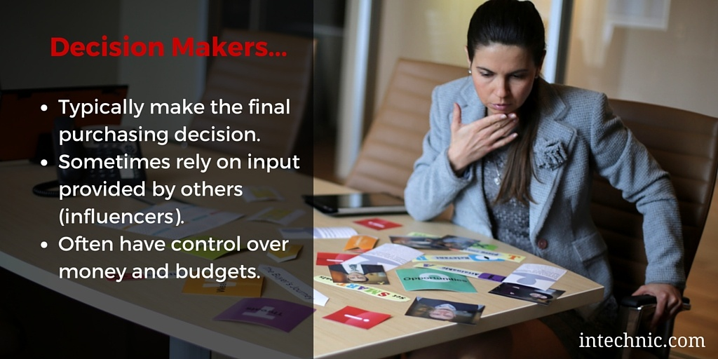 Attributes of decision makers