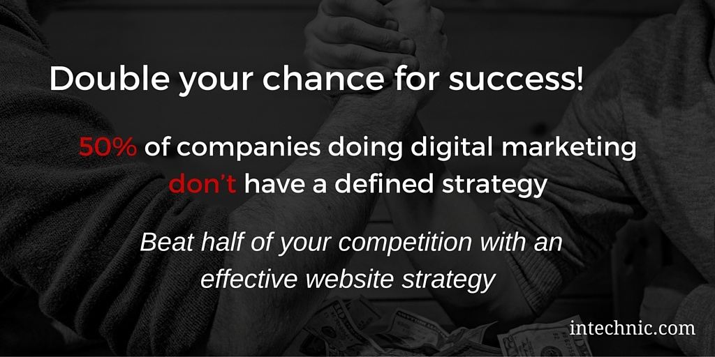 Beat half of your competition with an effective website strategy