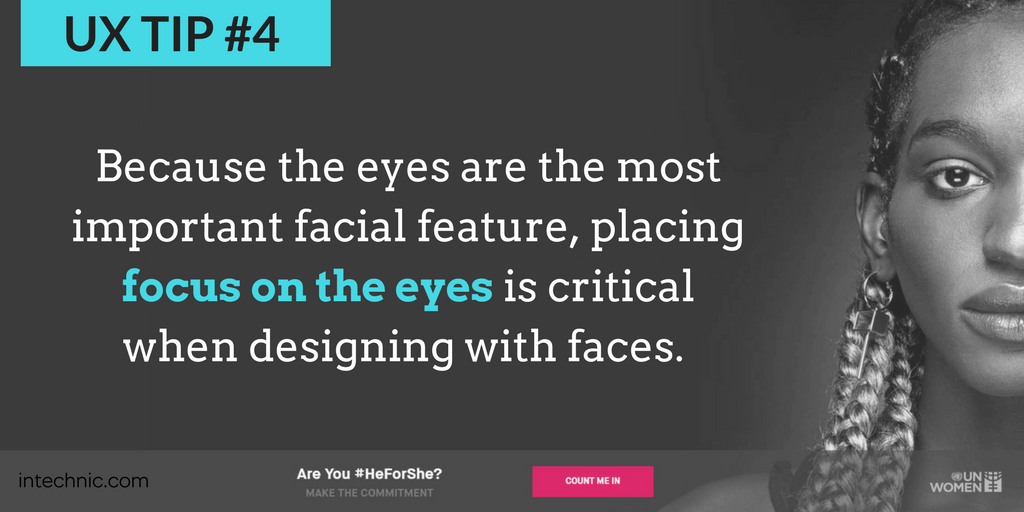 Because the eyes are the most important facial feature, placing placing focus on the eyes is critical