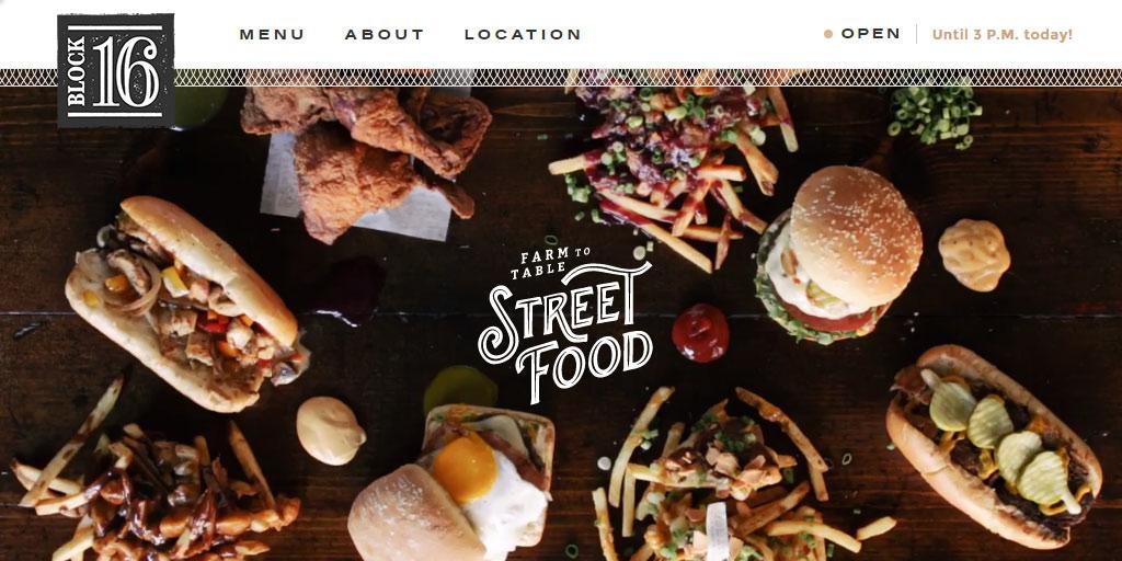 Best restaurant website design inspirations_13_block16omaha