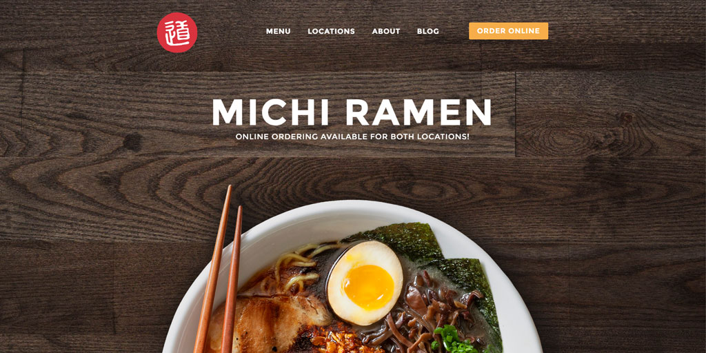 Best restaurant website design inspirations_4_michiramen