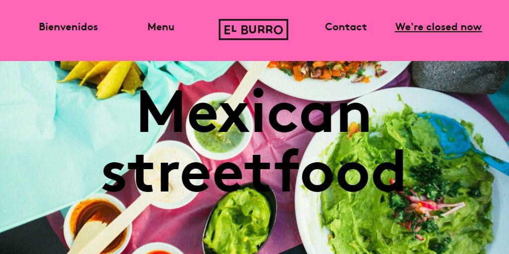 Best restaurant website design inspirations_6_elburro