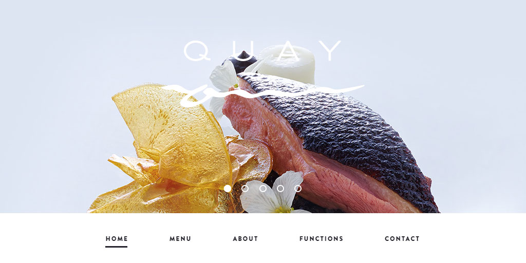 Best restaurant website design inspirations_7_quay