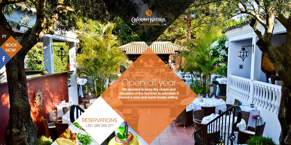Best restaurant website design inspirations_9_gourmetnaturalrestaurant