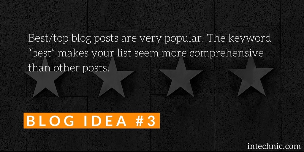 Best & top blog posts are very popular