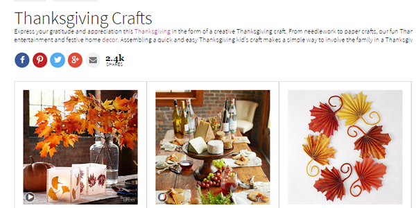 Better Homes & Gardens Thanksgiving Crafts - Decor