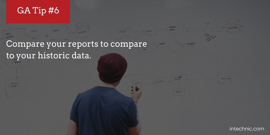 Compare your reports to compare your historic data