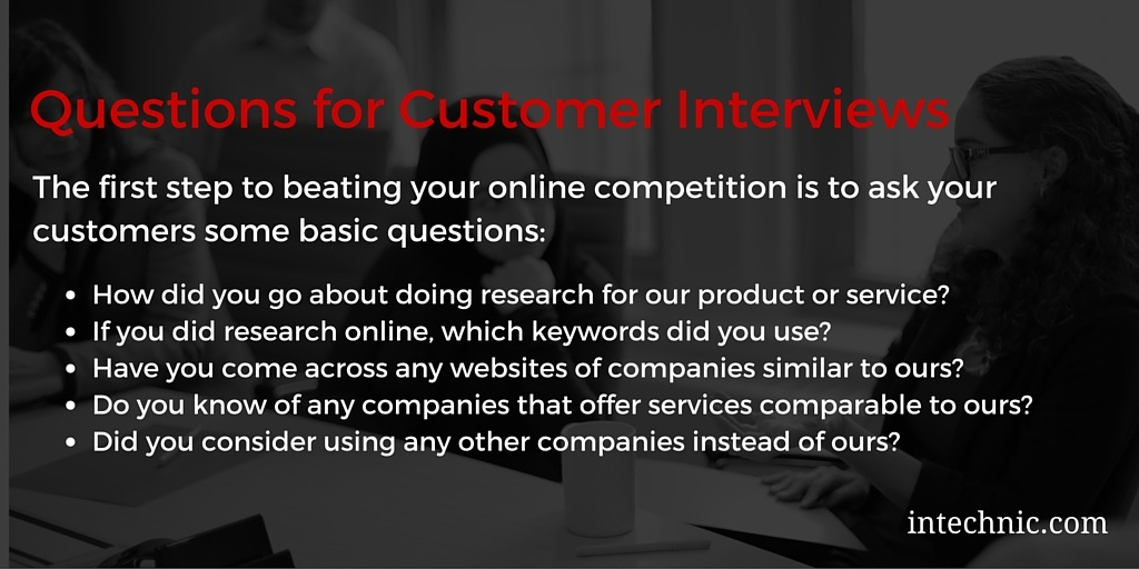 Questions for Customer Interviews