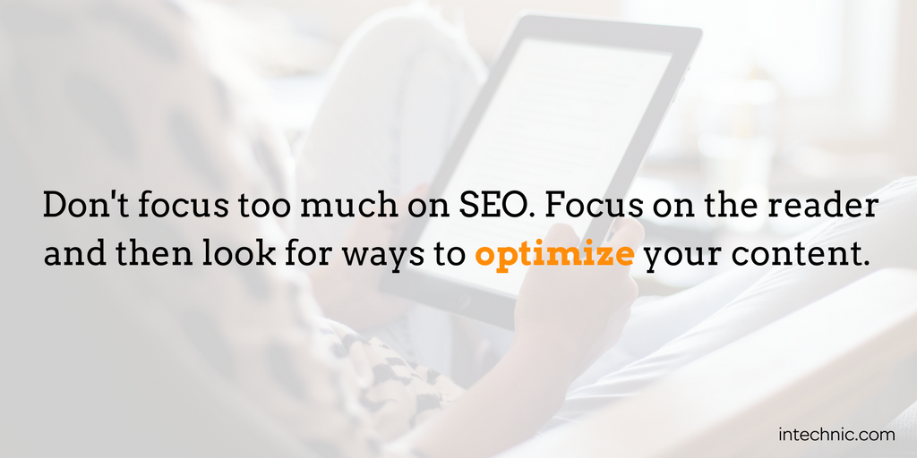 Don't focus too much on SEO. Focus on the reader and then look for ways to optimize your content