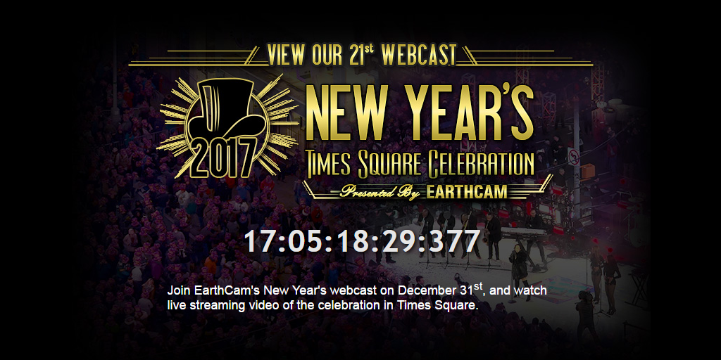 EarthCam - New Year Countdown 2017