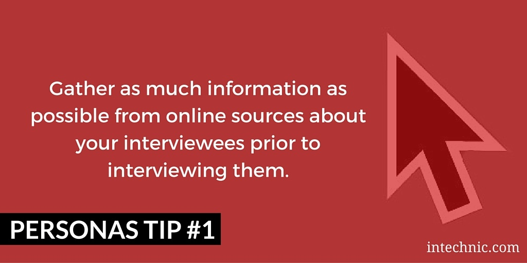 Gather as much information as possible from online sources about your interviewees