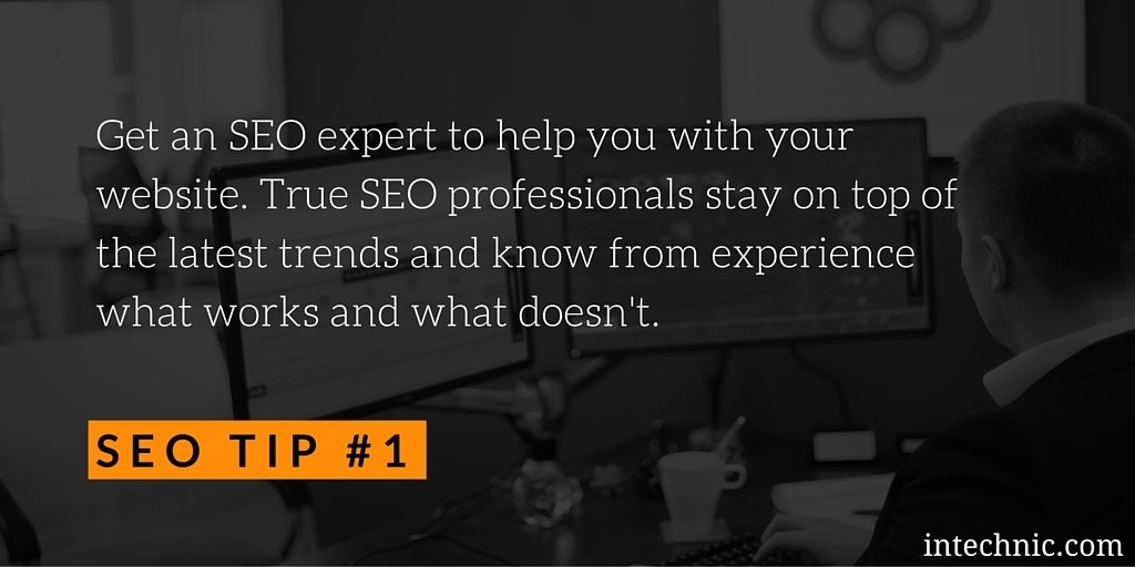 Get an SEO expert to help you with your website
