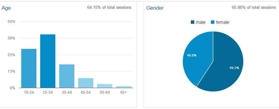 Google Analytics Demographics Overview