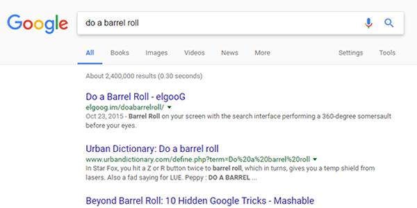 Google - Do a barrel roll