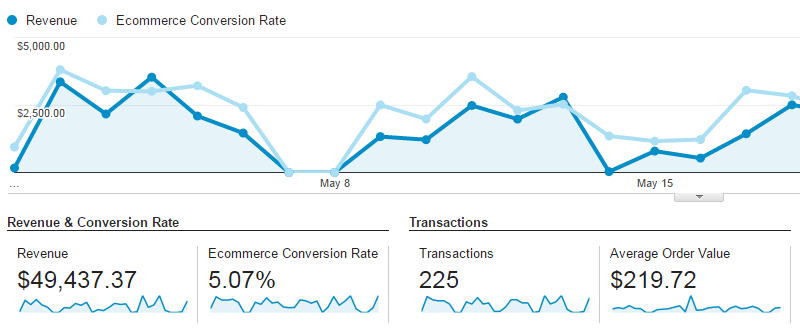 Google Analytics Conversion Analysis - E-commerce Overview