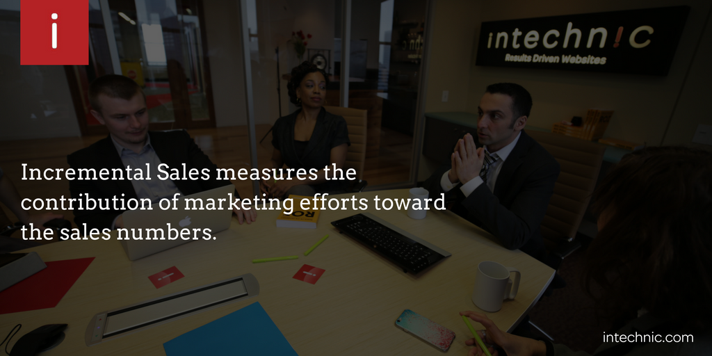 Incremental Sales measures the contribution of marketing efforts toward the sales numbers
