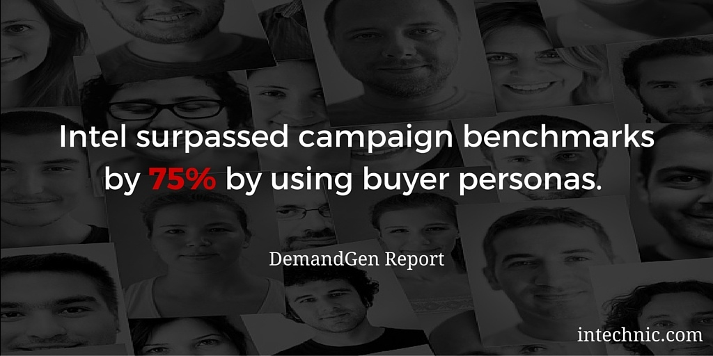 Intel surpassed campaign benchmarks by 75 by using buyer personas