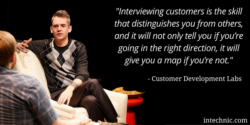 Interviewing Customers Is The Skill That Distinguishes You From Others