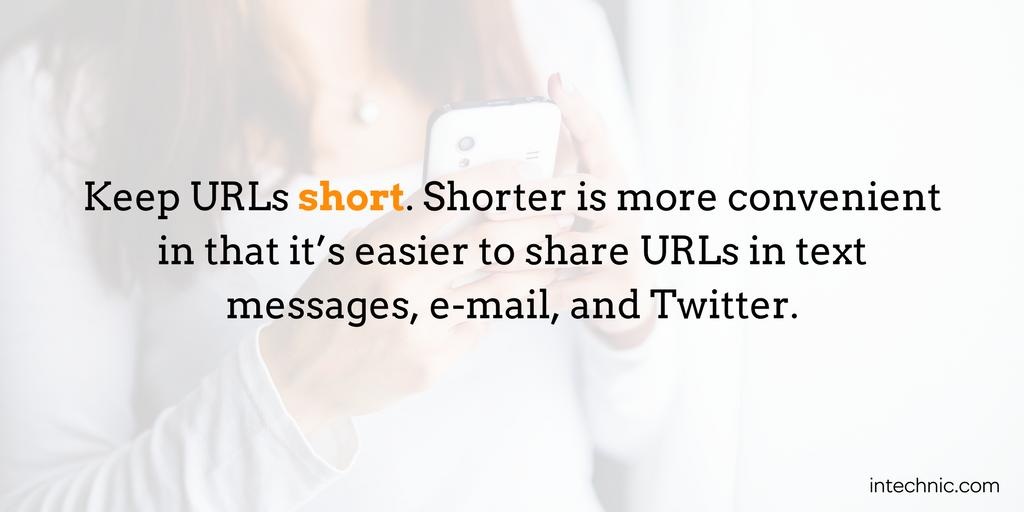 Keep URLs short