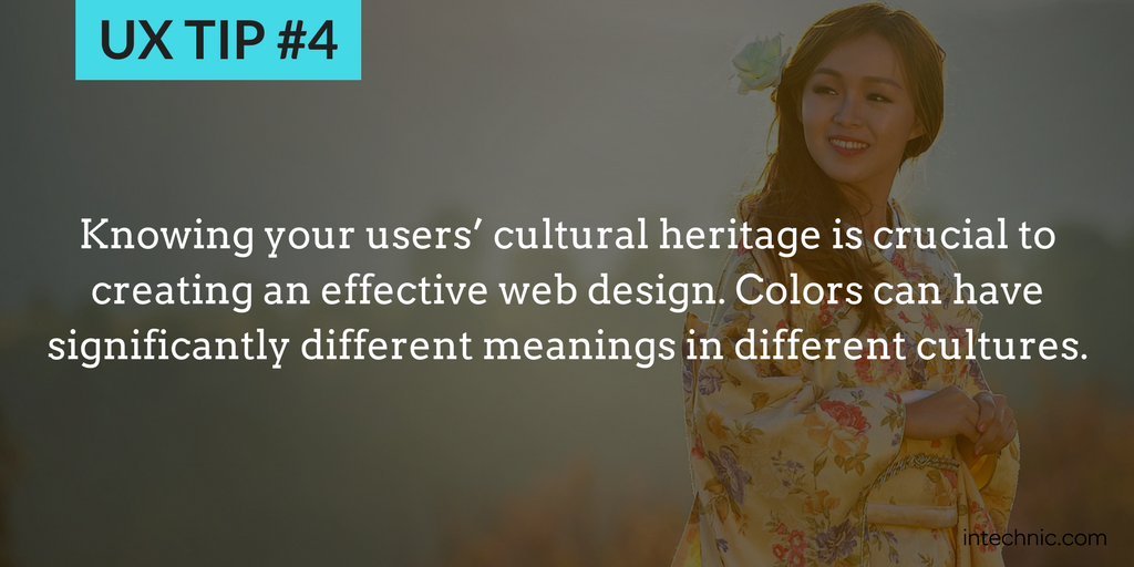 Knowing your users' cultural heritage is crucial to creating an effective web design