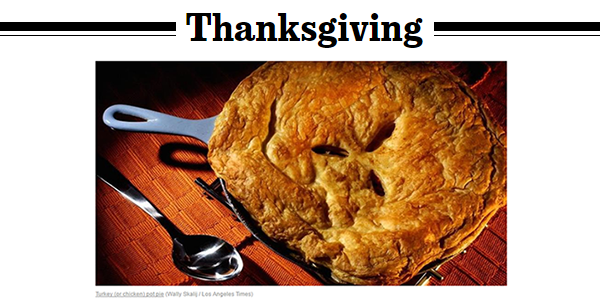 LA Times Thanksgiving Recipes -  food