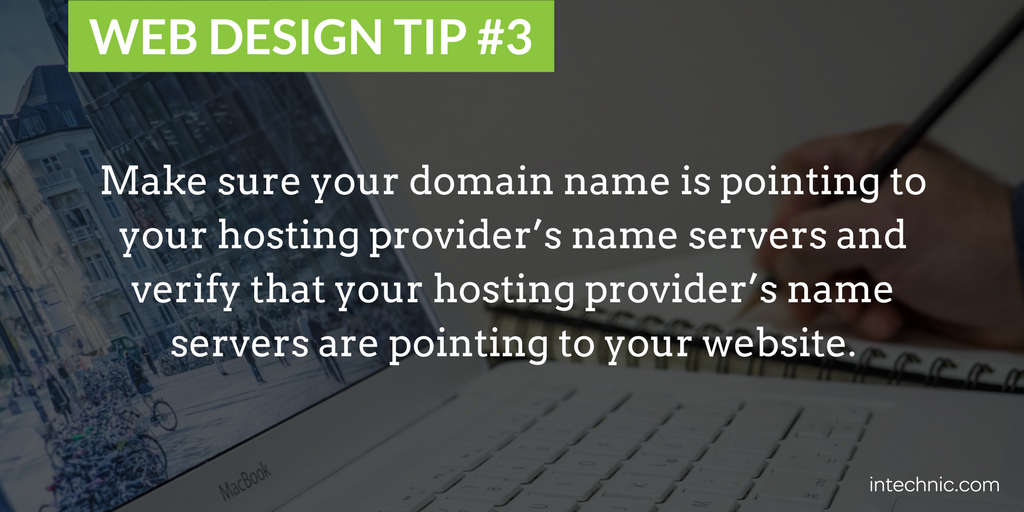 Make sure your domain name is pointing to your hosting provider's name servers