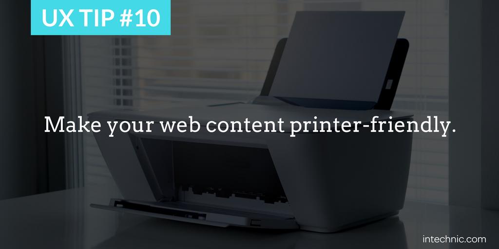 Make your web content printer-friendly