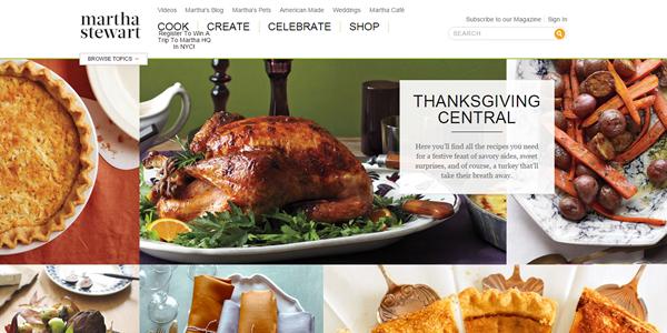 Martha Stewart_Thanksgiving_Website