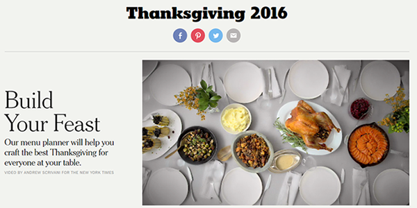 New York Times Thanksgiving Recipes - feast