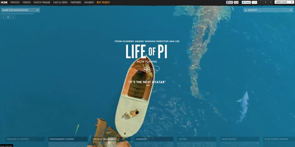 Best movies websites for 2013 oscar nominees for Life of pi name