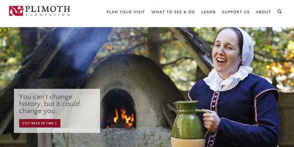 Plimoth_Plantation Thanksgiving Website