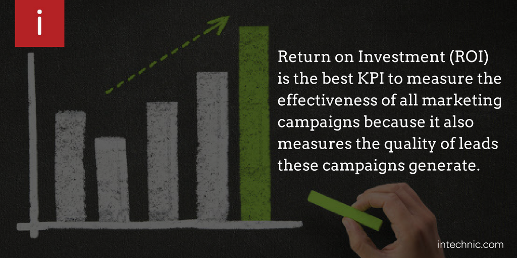 Return on Investment (ROI) is the best KPI to measure the effectiveness of all marketing campaigns