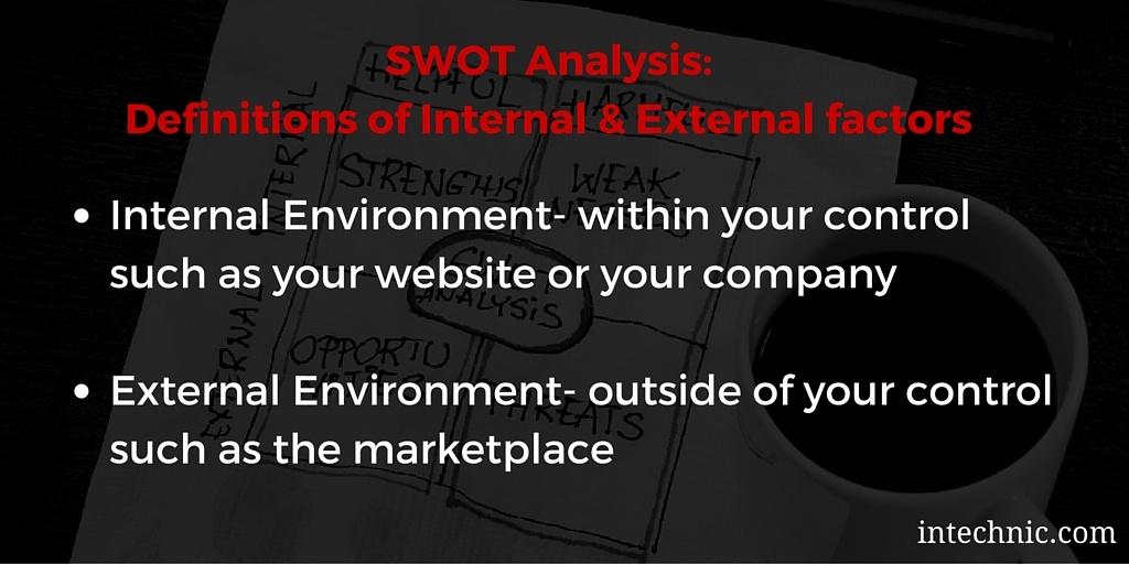 SWOT Analysis Internal and External Definitions