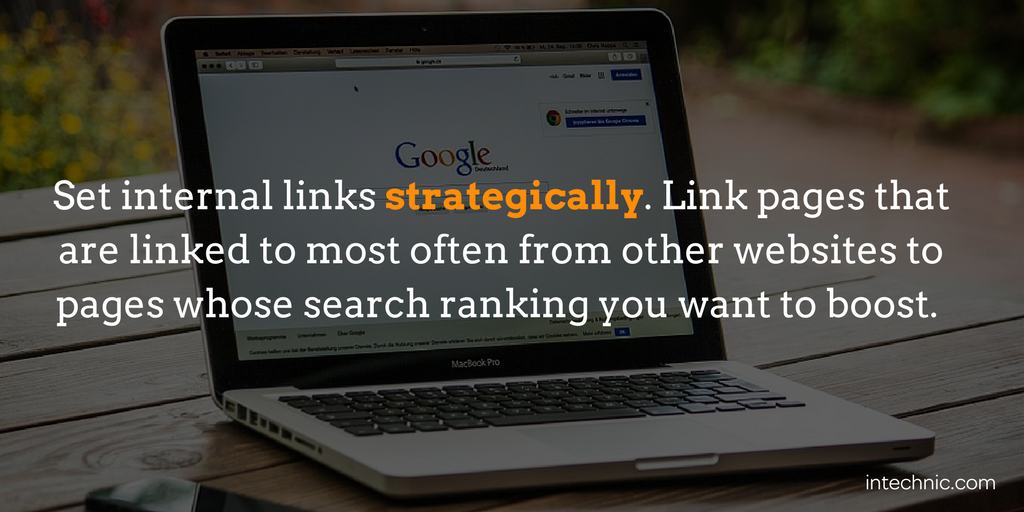 Set internal links strategically