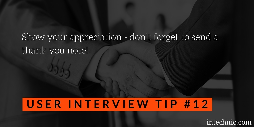 Show your appreciation - don't forget to send a thank you note