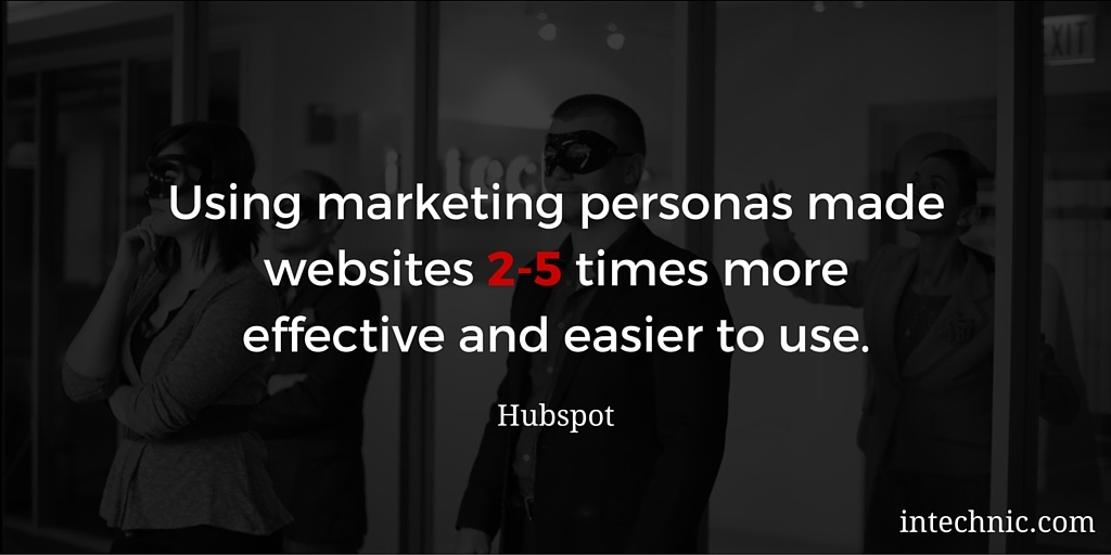 Using marketing personas made websites 2-5 times more effective and easier to use