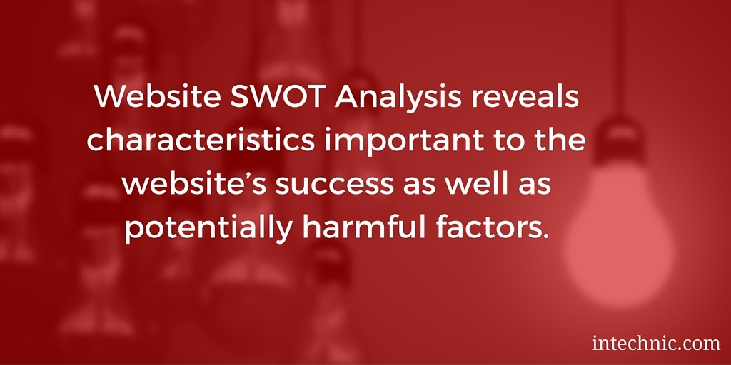 Website SWOT Analysis reveals characteristics important to the website's success as well as potentially harmful factors