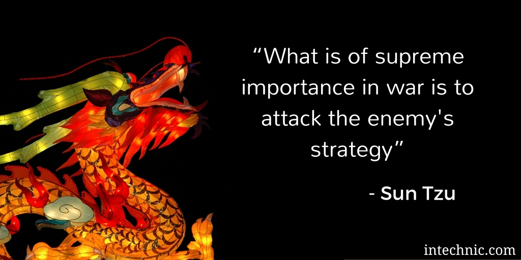 What is of supreme importance in war is to attack the enemy's strategy