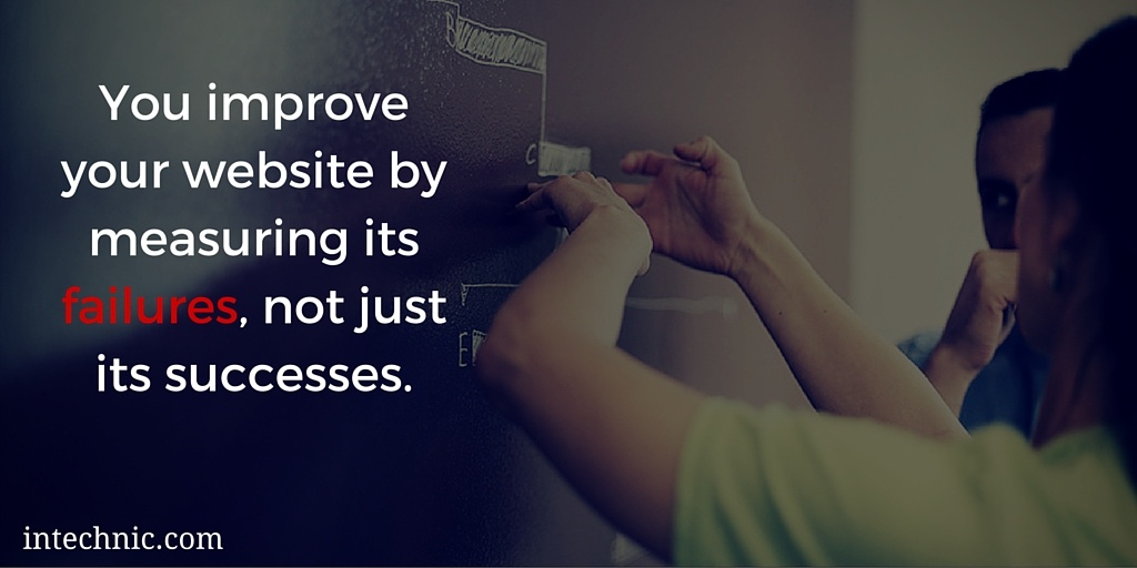 You improve your website by measuring its failures, not just its successes