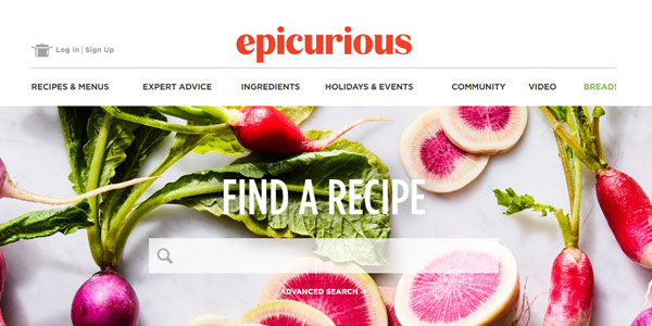 Top 50 most appetizing designs for food websites 3 epicurious forumfinder Choice Image